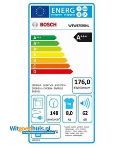 Bosch WTW8759ENL Serie 8 Exclusiv wasdroger
