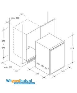 Candy CBL 150E inbouw koelkast