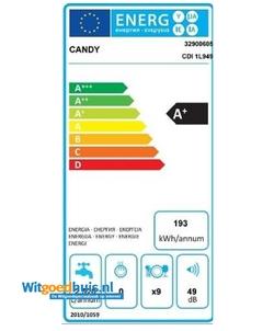 Candy CDI1L949 inbouw vaatwasser