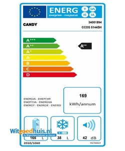 Candy CCDS 5144SH koelkast