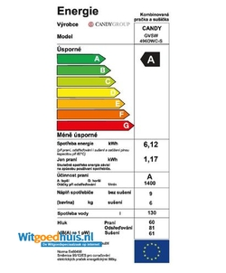 Candy GVSW 496DWC-S was-droogcombinatie