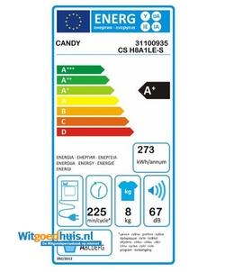 Candy CS H8A1LE-S wasdroger