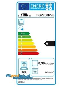 Etna FGV760RVS fornuis