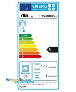 Etna FGV860RVS fornuis