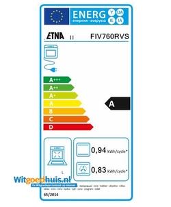 Etna FIV760RVS fornuis