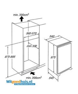 Etna EEK136VA inbouw koelkast