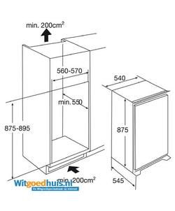 Etna EEK146A inbouw koelkast
