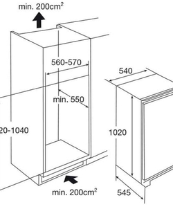 Etna KKD50102 inbouw koelkast