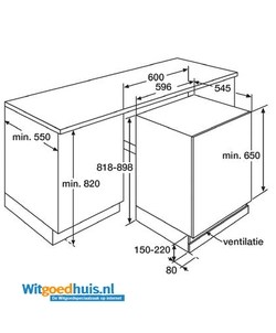 Etna KKO182 inbouw koelkast