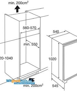 Etna KKS8102 inbouw koelkast