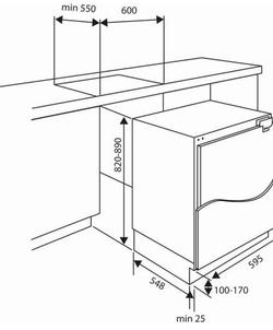 Etna KVO482 inbouw koelkast