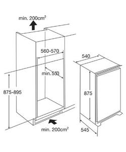 Etna KVS50088 inbouw koelkast