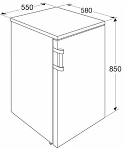 Etna KVV155WIT koelkast