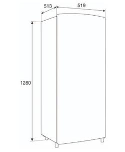 Etna KVV3128ZWA koelkast