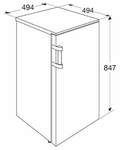 Etna KVV549WIT koelkast