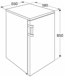 Etna KVV555WIT koelkast
