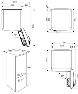 Etna KVV594KOP koelkast