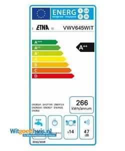 Etna VWV645WIT vaatwasser