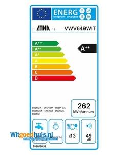 Etna VWV649WIT vaatwasser