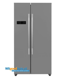 Exquisit koelkast amerikaans SBS130-4A+ INOX