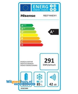 Hisense RB371N4EW1 koel / vriescombinatie