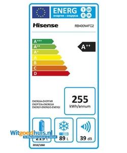 Hisense RB400N4FC2 koel / vriescombinatie