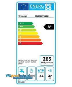 Indesit EDIFP 28T9 A EU inbouw vaatwasser