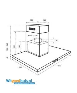 Inventum AKB9004RVS inbouw afzuigkap