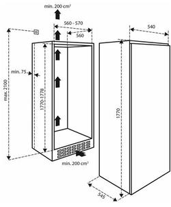 Inventum IVR1785S inbouw koelkast