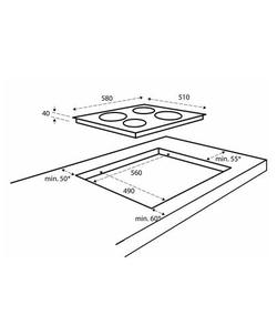 Inventum IKE6010RVS inbouw kookplaat
