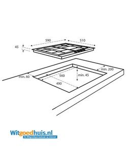 Inventum IKG6023GRVS inbouw kookplaat