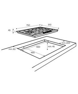 Inventum IKG7523WGRVS inbouw kookplaat