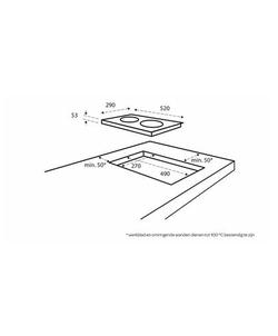 Inventum IKI3020 inbouw kookplaat