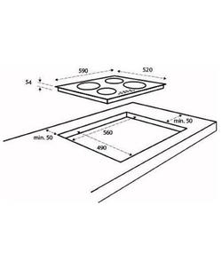 Inventum IKI6031 inbouw kookplaat