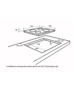 Inventum IKI7710 inbouw kookplaat