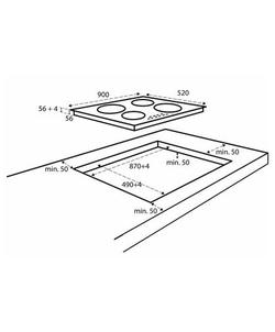 Inventum IKI9035 inbouw kookplaat