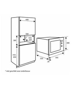 Inventum IMC6020F inbouw magnetron
