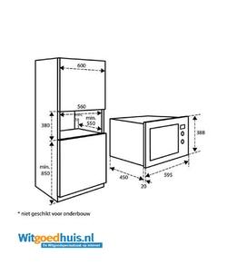 Inventum IMC6032F inbouw magnetron