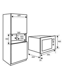 Inventum IMC6125F inbouw magnetron