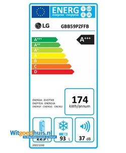 LG GBB59PZFFB koel / vriescombinatie