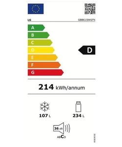 LG GBB61SWGFN koel / vriescombinatie