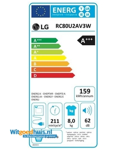 LG RC80U2AV3W wasdroger