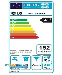 LG F4J7VY2WD wasmachine