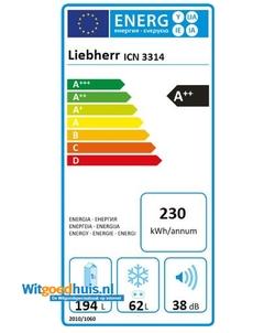 Liebherr ICN 3314-20 Comfort inbouw koel / vriescombinatie