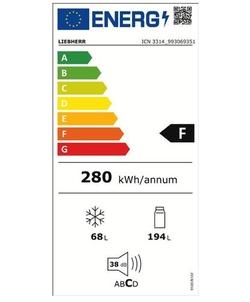 Liebherr ICN 3314-21 inbouw koelkast