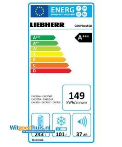 Liebherr CBNPbs 4858-20 Premium koel / vriescombinatie