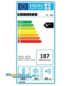 Liebherr CT 2531-20 Comfort koel / vriescombinatie