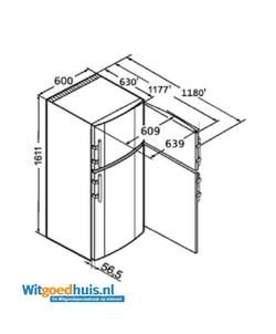 Liebherr CTP 3016-22 Comfort koel / vriescombinatie