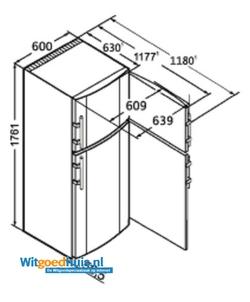 Liebherr CTP 3316-22 Comfort koel / vriescombinatie