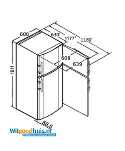 Liebherr CTPesf 3016-22 Comfort koel / vriescombinatie